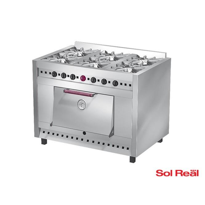 Cocina 6 hornallas sol real cocinas catalogo for Cocina 6 hornallas