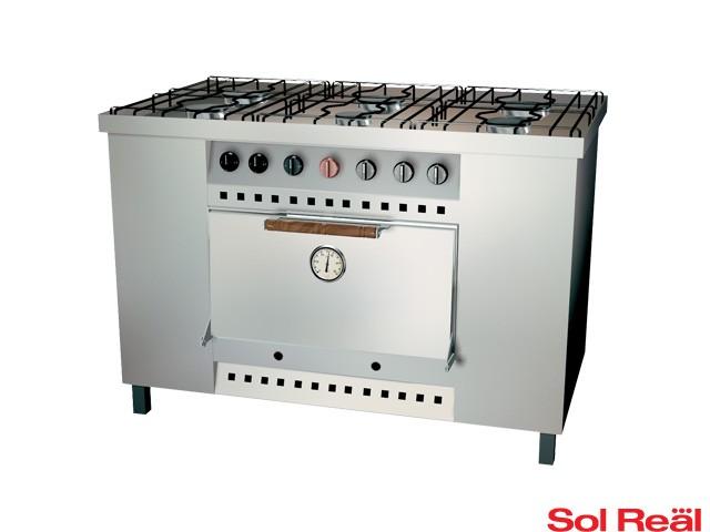 Cocina industrial 6 hornallas sol real for Cocina 6 hornallas